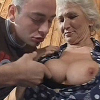 001 Hottest Grandma Fucking Videos   Her Last Fuck – Busty Granny With Young Dude